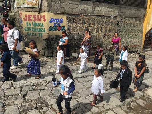 Super mature little Guatemalans parading around
