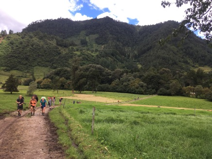 Hiking up to the cheese farm, which is situated in Guatemala's version of Switzerland