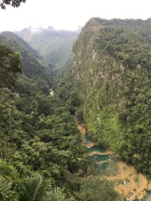 The pools of Semuc from the mirador above