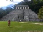 Palenque - Selfie with Templo de las Inscripciones